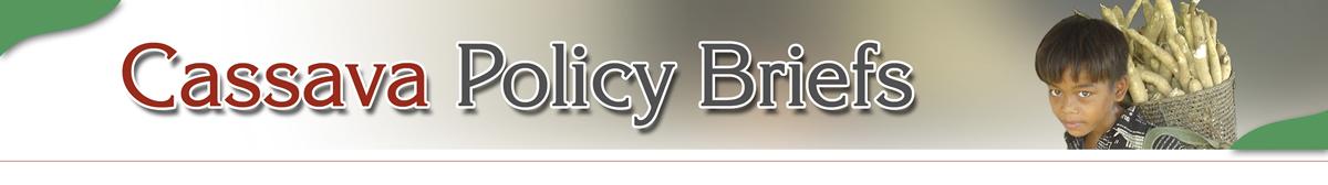 Cassava Policy Brief - Magar Design