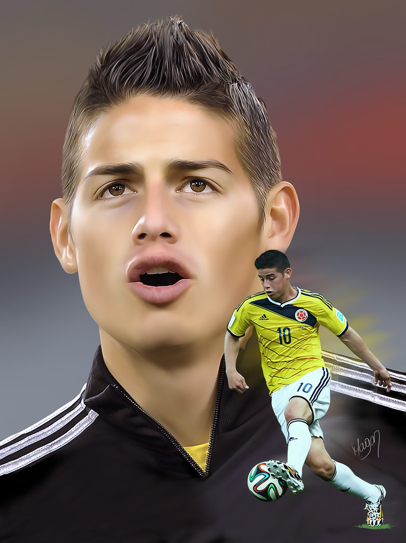 James Rodriguez por MAGAR