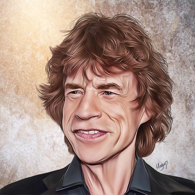Mick Jagger por MAGAR